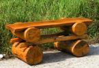 Rustikale Massivholzbank ohne Lehne