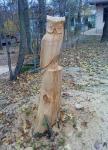 Baum gefällt und gestaltet